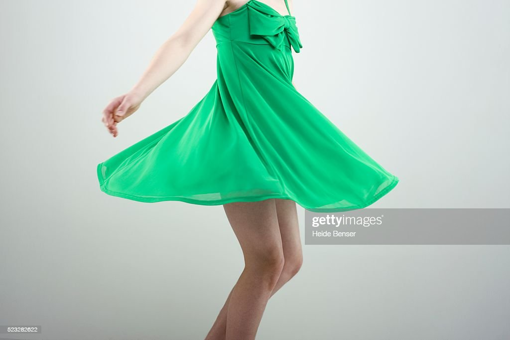 Woman spinning : Stock Photo