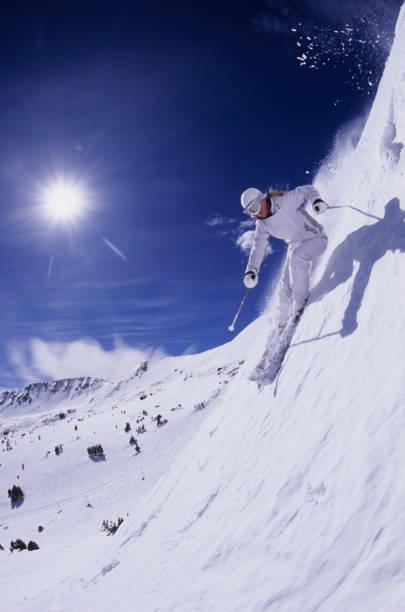 Woman spring skiing in Loveland, Colorado.