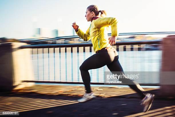 Woman Sprinting Interval Training
