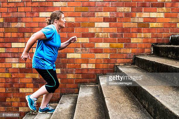 Woman Stair Climbing