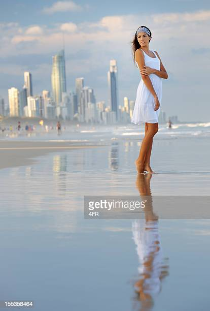 Woman standing at the Gold Coast, Australia