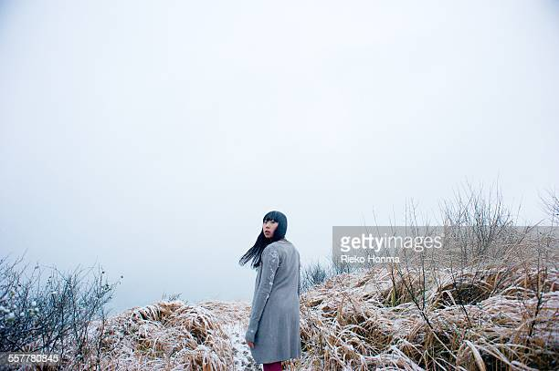 Woman standing in a nature