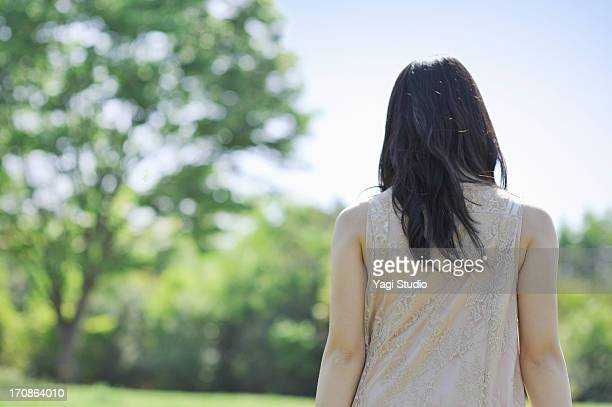 Woman standing in nature
