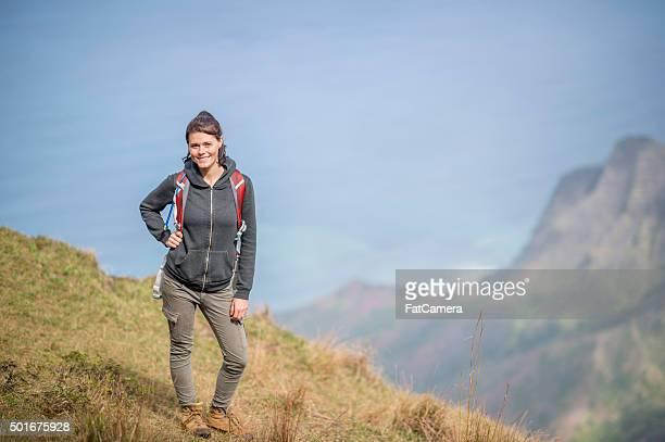 女性の最上階では、ハワイの山