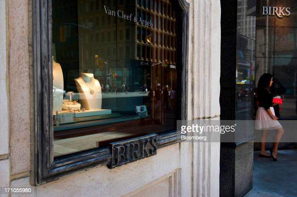 A woman stands outside Birks jewelry store in Toronto Ontario Canada on Thursday June 20 2013 Canadas inflation rate accelerated less than economists...