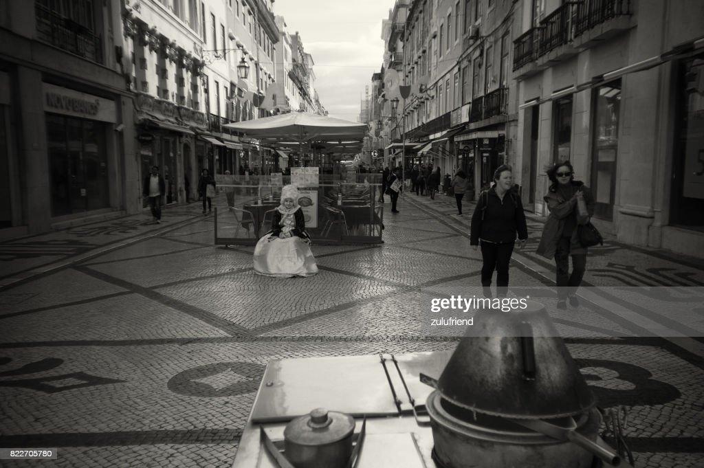 Woman Statue in Lisbon : Stock Photo
