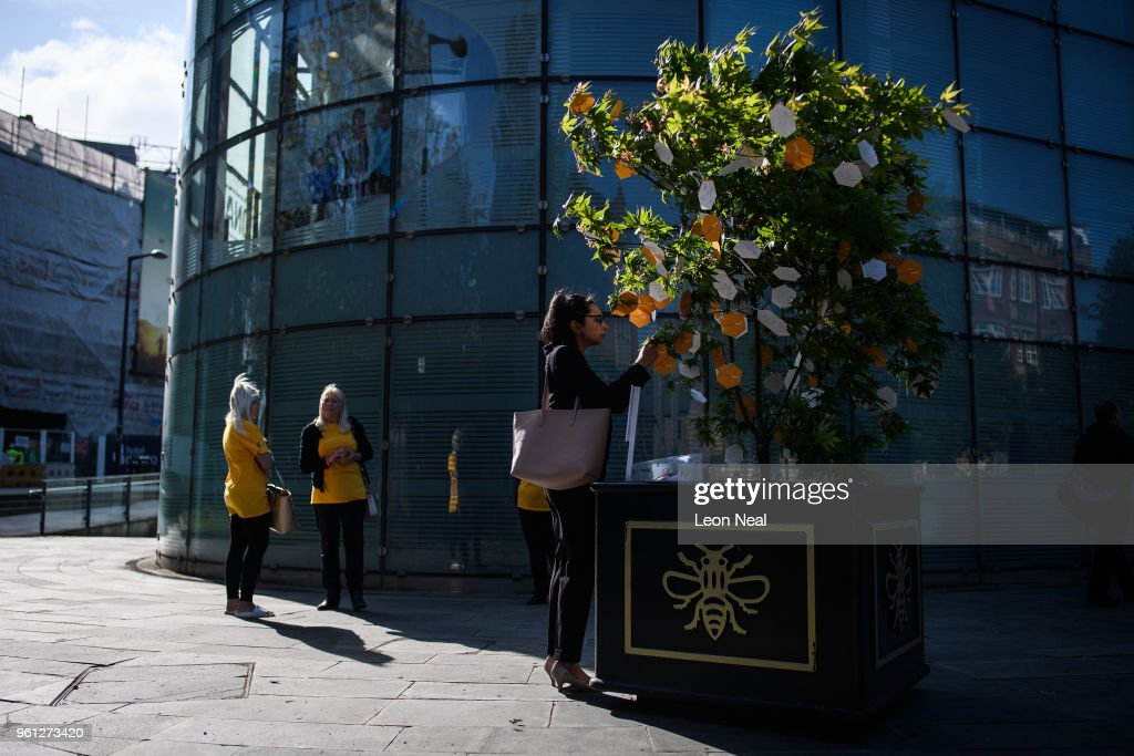 Manchester Arena Bombing First Anniversary Tribute Takes Place In Albert Square : News Photo