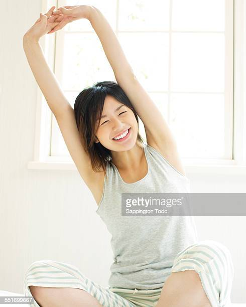 Woman Stretching Her Hands