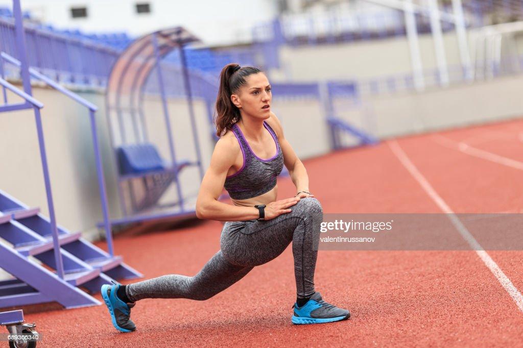 Woman stretching : Stock Photo