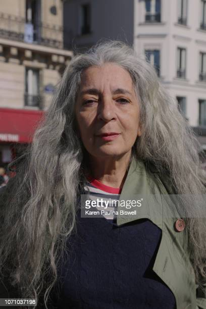 portrait of woman in the streets of paris