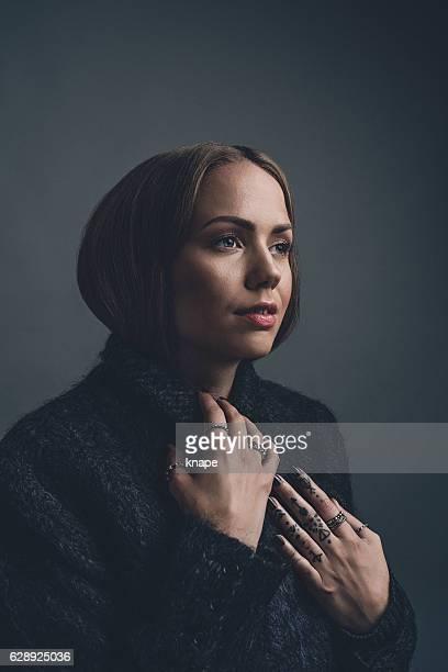 Woman studio portrait