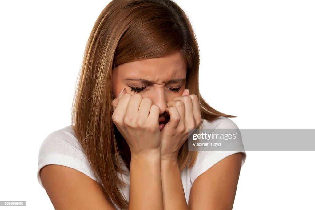 woman suffering : Stock Photo