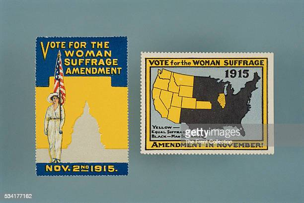 Woman Suffrage Brochure and Stamp
