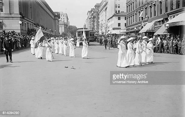 Woman Suffrage Parade Washington DC USA May 1914