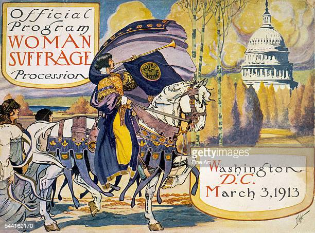 Woman suffrage procession Washington DC March 3 1913 Cover of program for the National American Women's Suffrage Association procession