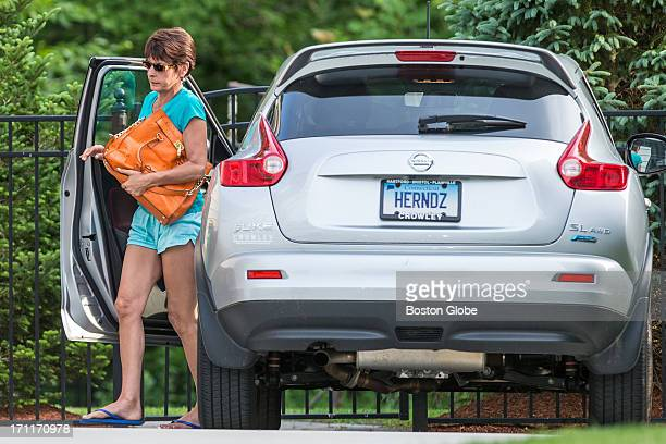 Woman, suspected to be the mother of Aaron Hernandez, arrived at the home of the New England Patriots in North Attleborough. Hernandez has been...