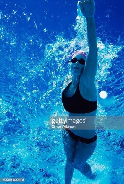 Woman Swimming Front Crawl