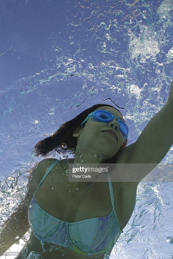 Woman swimming : Stock Photo
