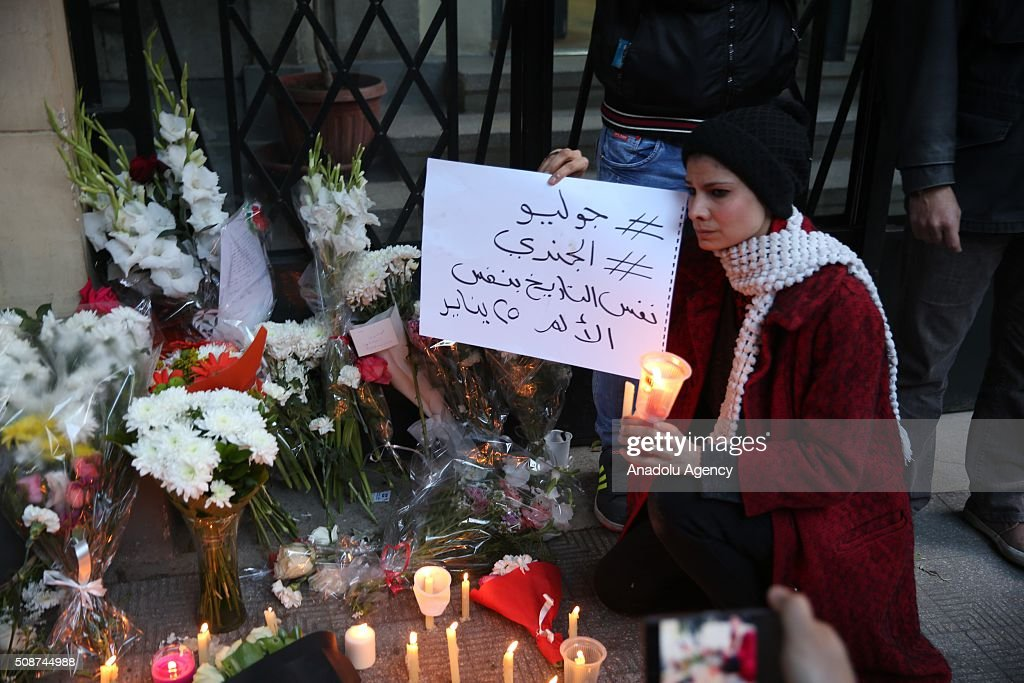 Rally held in memory of Italian student found dead in Cairo : News Photo