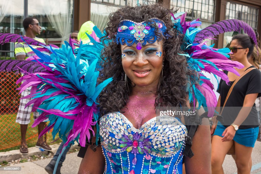 Woman Takes Part In The Caribana Festival In Toronto Canada