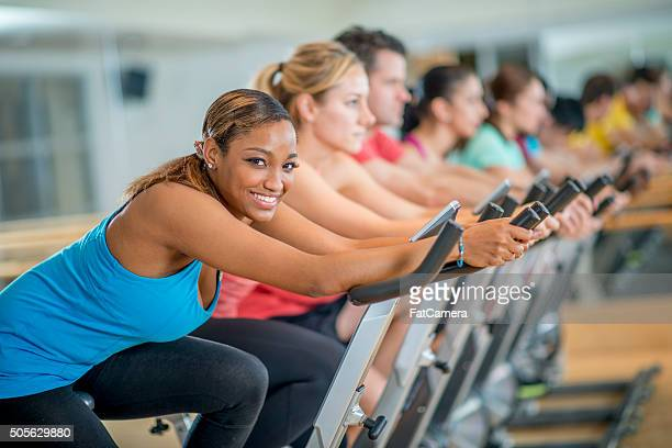 Woman Taking a exercise class