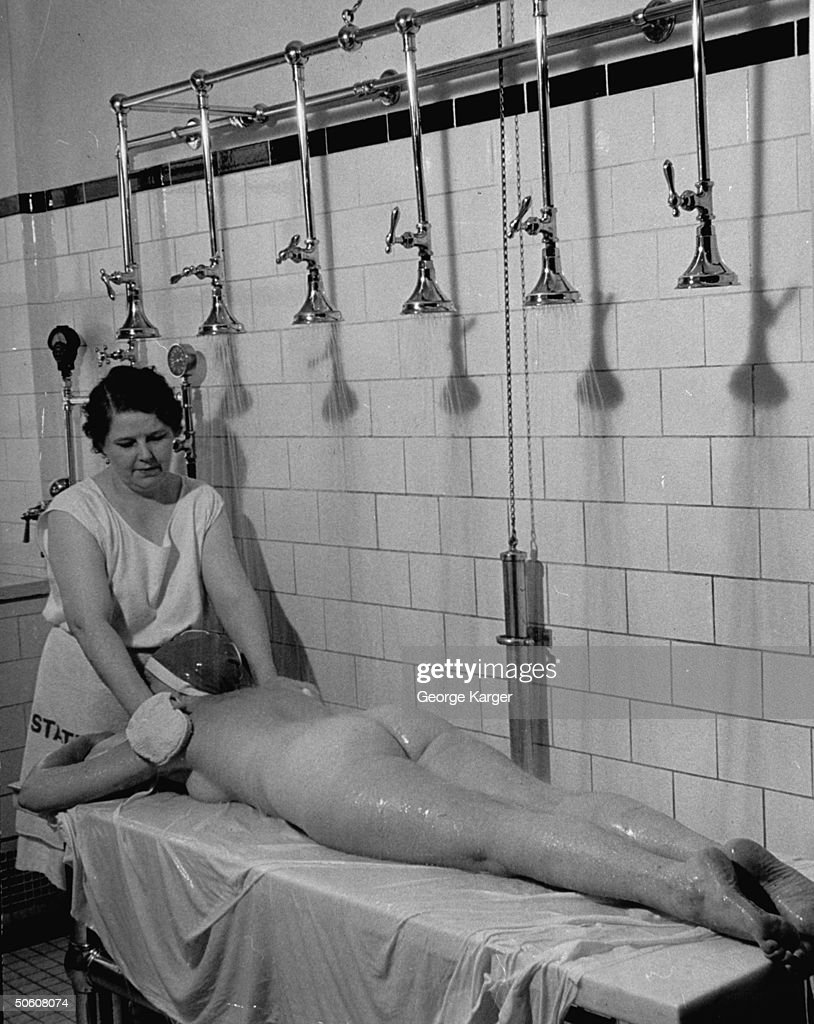 A woman taking a special shower at Roose Pictures | Getty Images