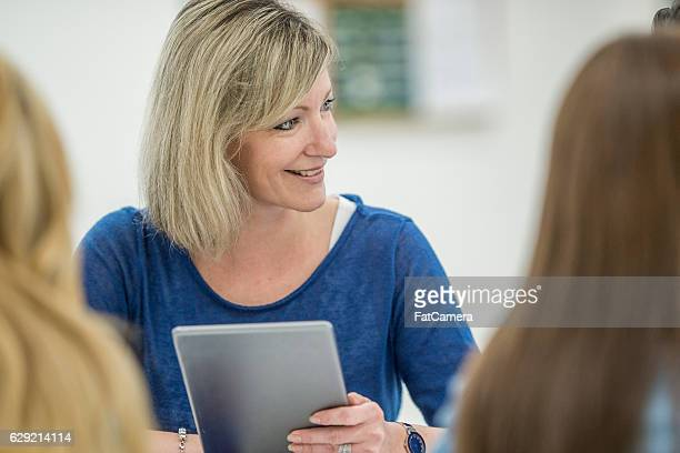 Woman Taking an Adult Education Course