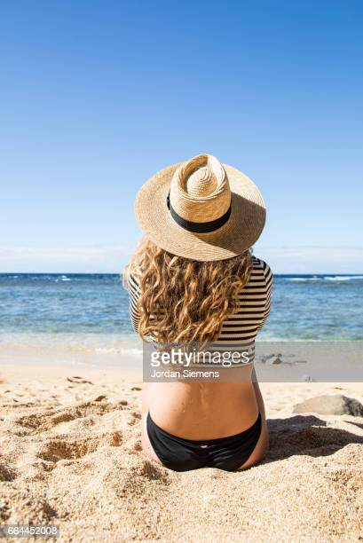 A woman taking in the ocean view