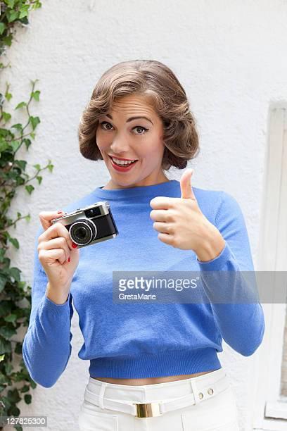 Mulher tirar fotografias ao ar livre