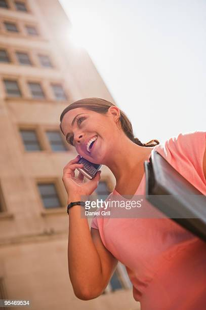Woman talking on mobile