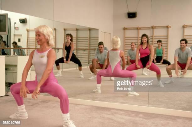 Woman Teaching an Aerobics Class