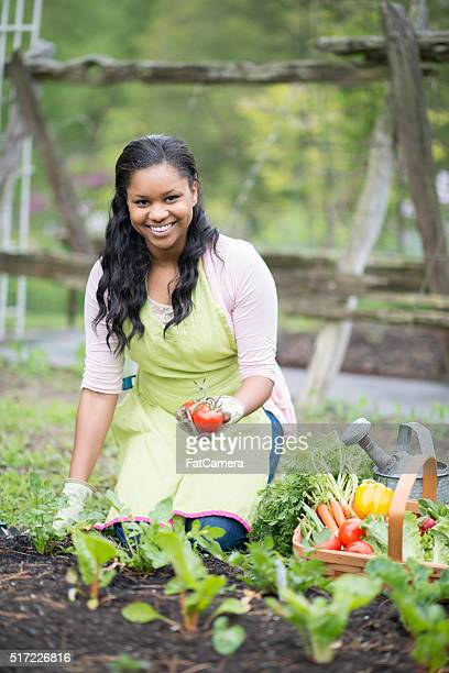 Woman Tending to Her Garden