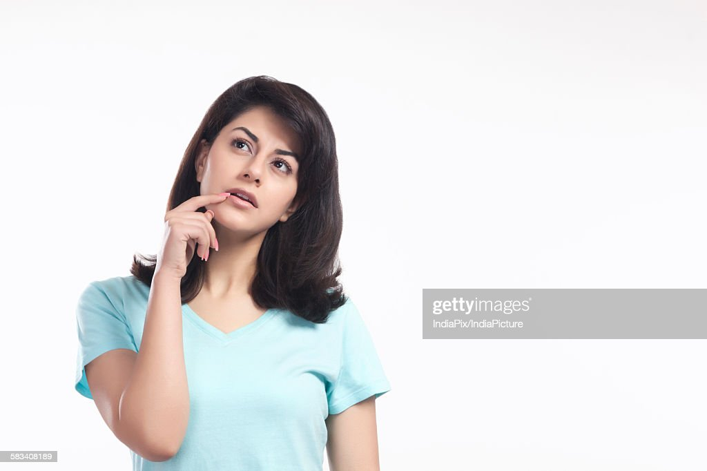 Woman thinking : Stock Photo