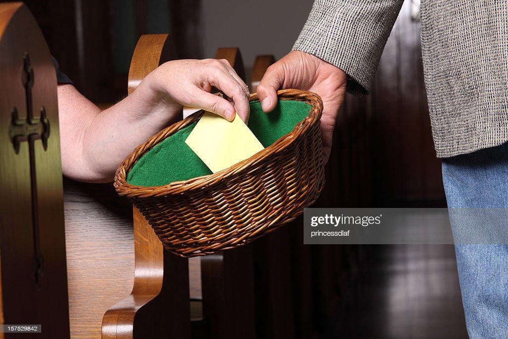 Woman Tithing : Stock Photo