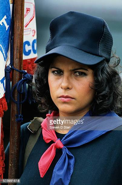 A woman trains as a member of the Dignity Battalion one of General Manuel Noriega's paramilitary forces Noriega rose to power in Panama during the...