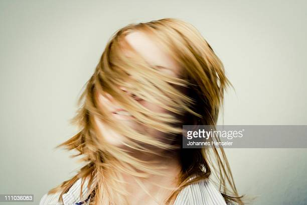 Woman turning her head