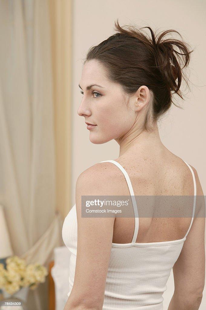 Woman turning : Foto de stock