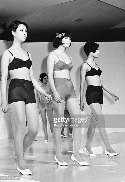 Woman Underwear Presentation In Tokyo On The Sixties