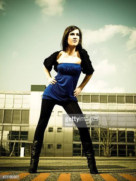 Woman Urban Fashion 'The Avengers' Style