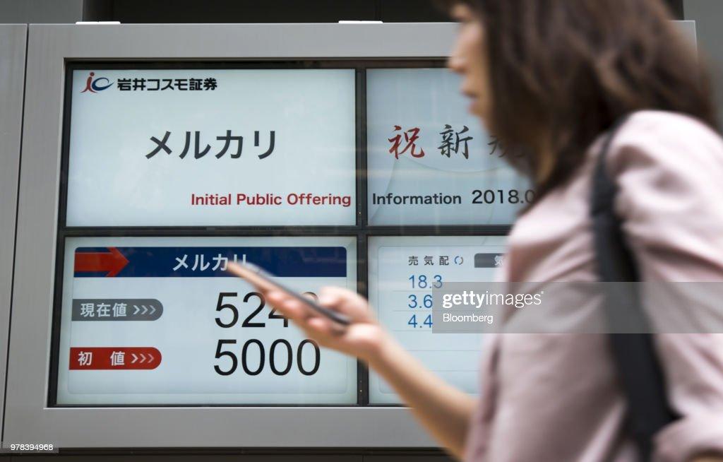 Online Market App MercariJumps in Tokyo Debut After $1.2 Billion IPO