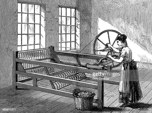 Woman using a Spinning Jenny c1880 The Spinning Jenny was invented by James Hargreaves in 1764 On his original machine a single wheel controlled...