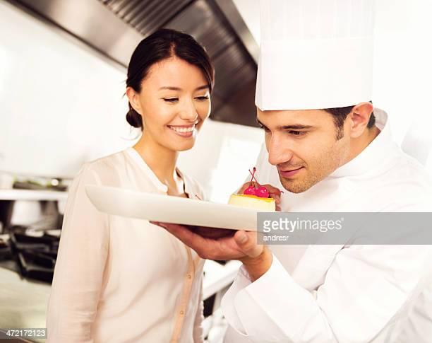 Mujer Visite el chef