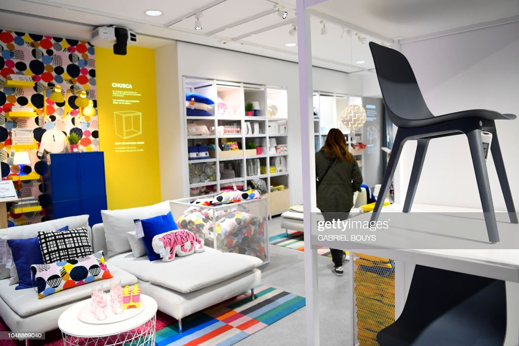 A Woman Visits A Store Of The Swedish Furniture Giant Ikea In Madrid