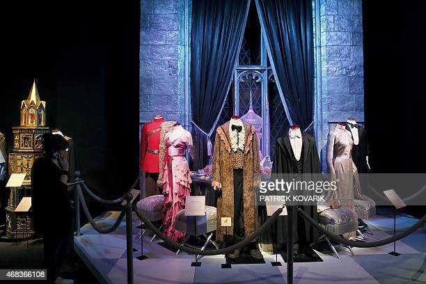 A woman visits an exhibition on the literary characters and themes of the Harry Potter novels at the Cite Du Cinema on April 2 in SaintDenis Harry...