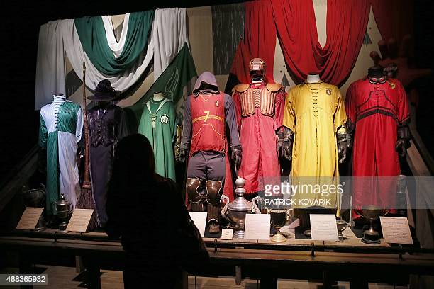 A woman visits an exhibition on the literary characters of the Harry Potter novels at the Cite Du Cinema on April 2 in SaintDenis Harry Potter is a...