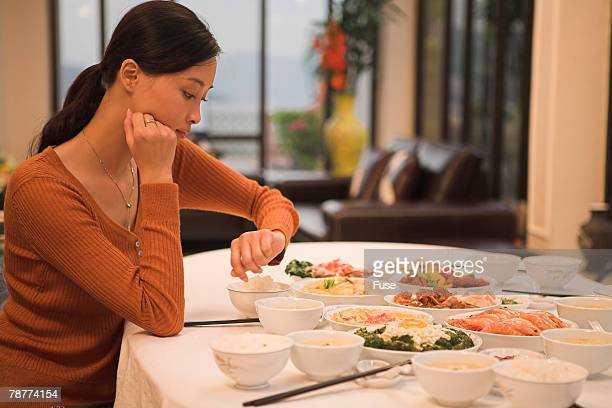 Woman Waiting For Family to Arrive