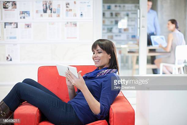 Woman waiting outside office