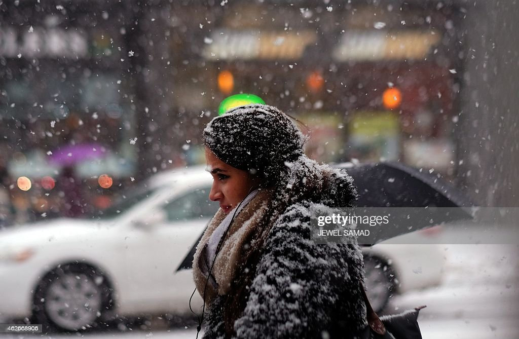US-WEATHER-SNOW-STORM : News Photo