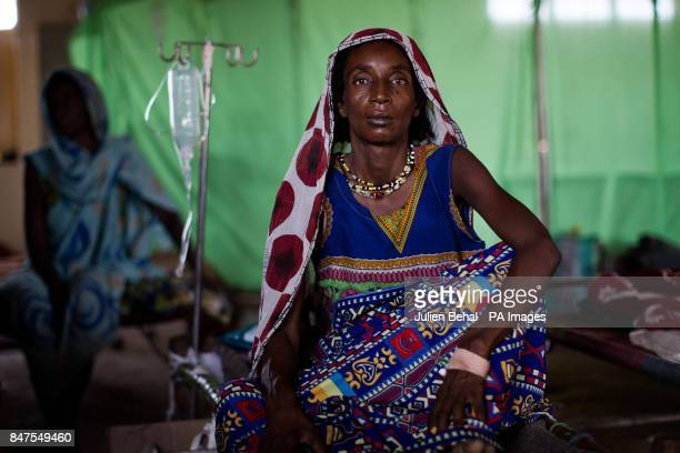 A woman waits to be seen in Bunj clinic which cares for people from Doro refugee camp in BunjMaban in the Upper Nile Blue Nile state of northeastern...