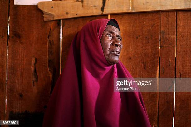 A woman waits to see a doctor inside of a Doctors Without Borders medical station in Dadaab the world�s biggest refugee camp August 19 2009 in Dadaab...